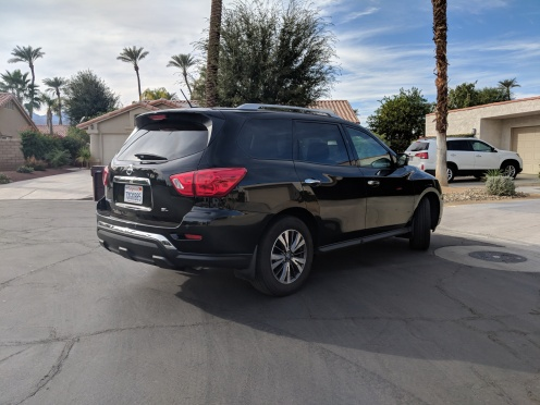 Rear 3/4 View: Sort of like a budget Infiniti FX